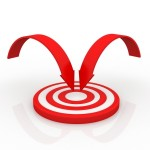Red bullseye with two arrows focused on the center. Photo from Free Digital Photos.net